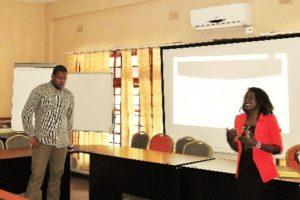 Namukale and Akalu presenting on behalf of Luano Honey.
