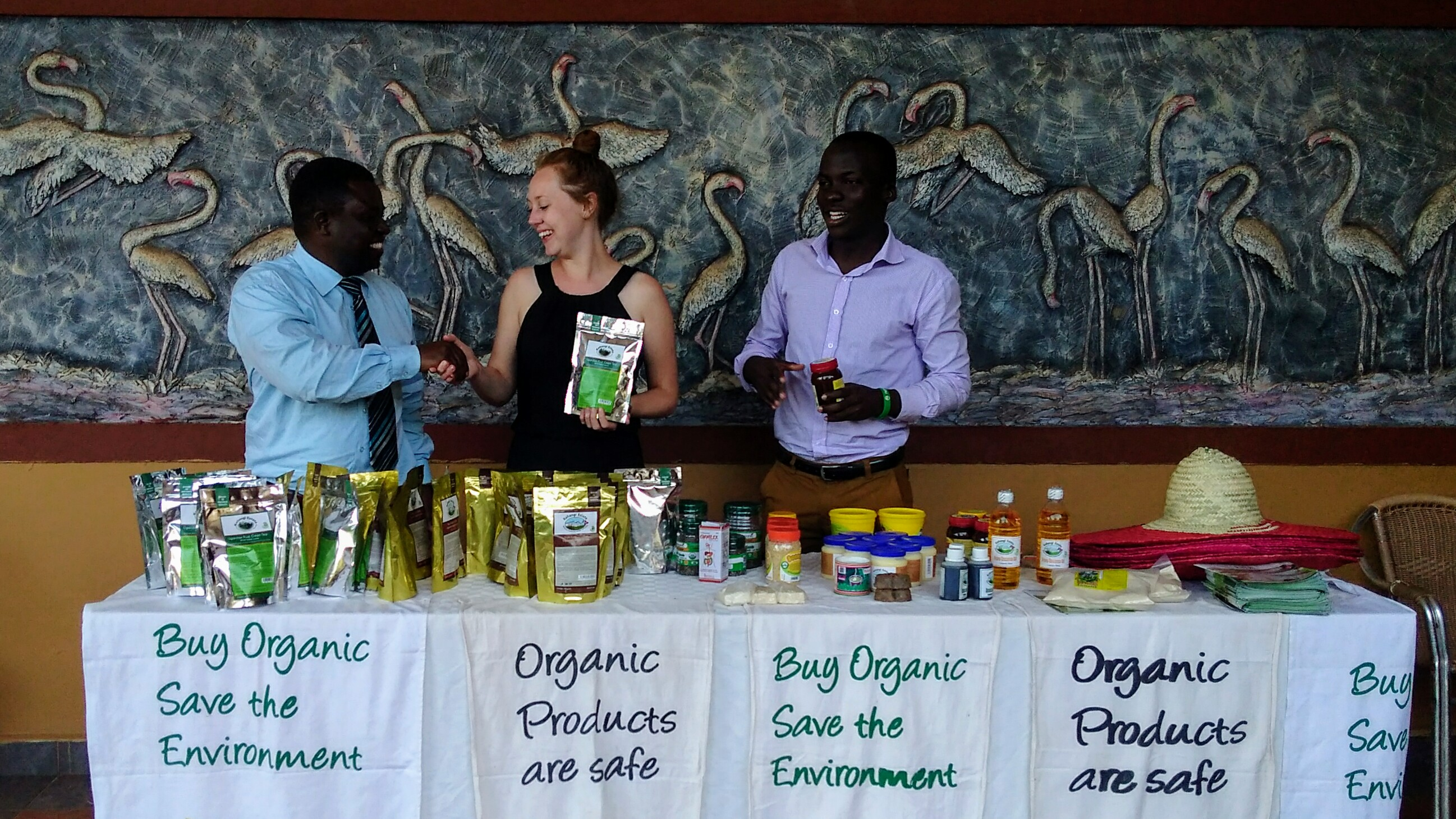 Organic products on show at the conference (3)