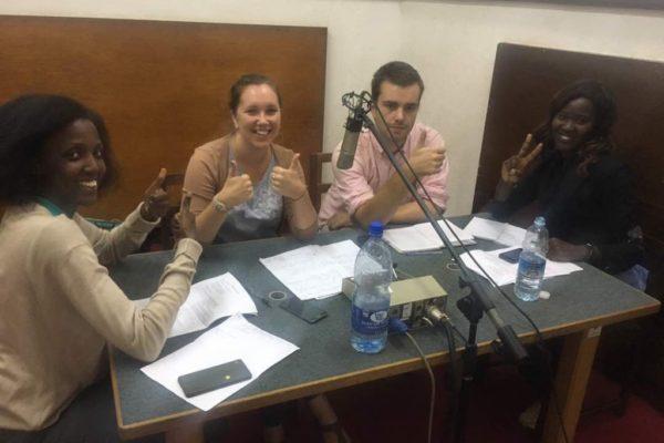 Challenges Worldwide speaking on UBC radio