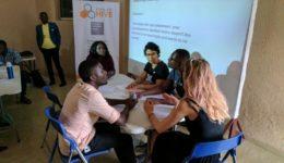 Challenges Worldwide ICS volunteers at Kumasi Hive
