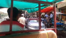 Tuk Tuk in Chandni Chowk - main and oldest street in Old Delhi (2)