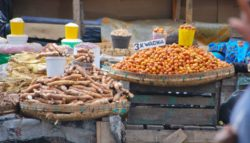Markets selling various indigenous fruits and snacks in Zambia streets