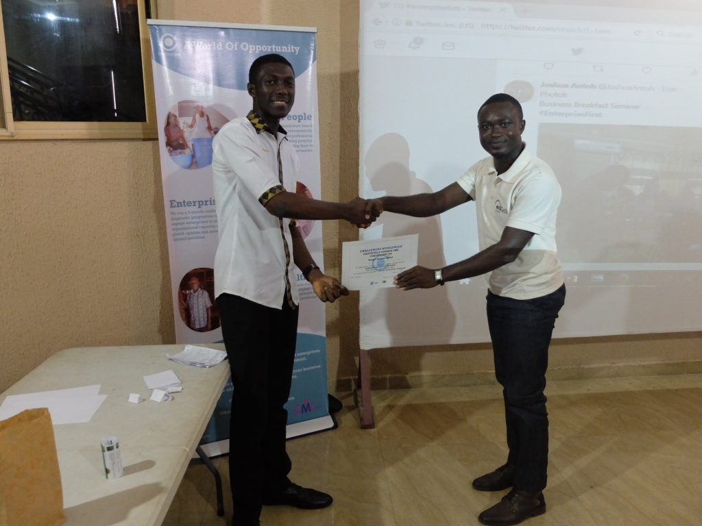 Awarded attendee at the Business Breakfast Seminar