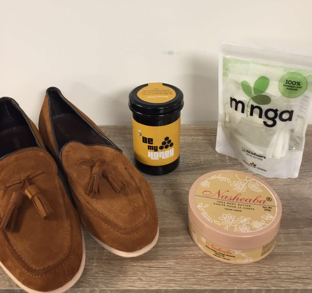 Moringa Connect; Ghana Honey; Ghana Shea Butter; Ghana shoes