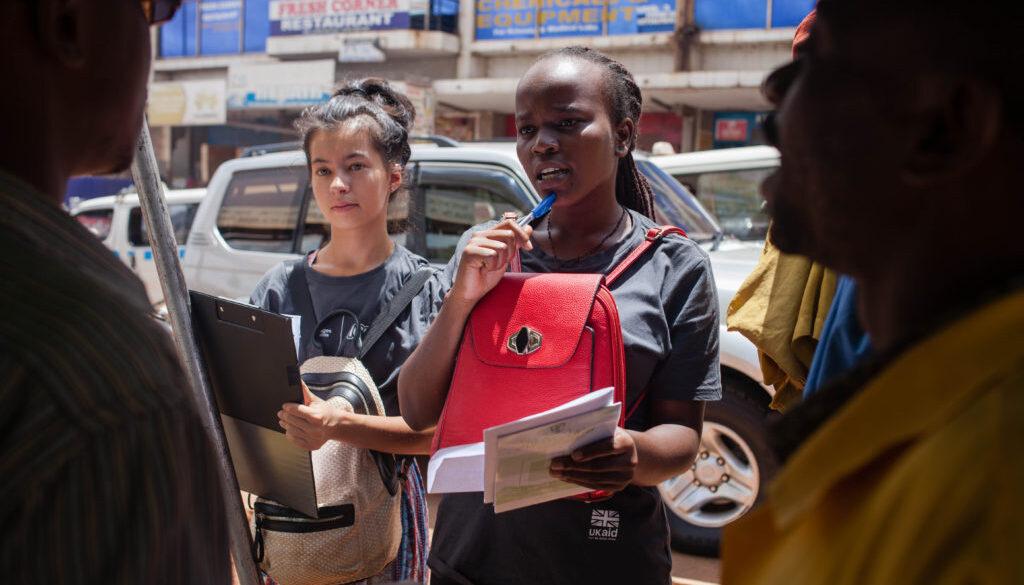 Volunteers during their overseas placement with Challenges Worldwide in Uganda