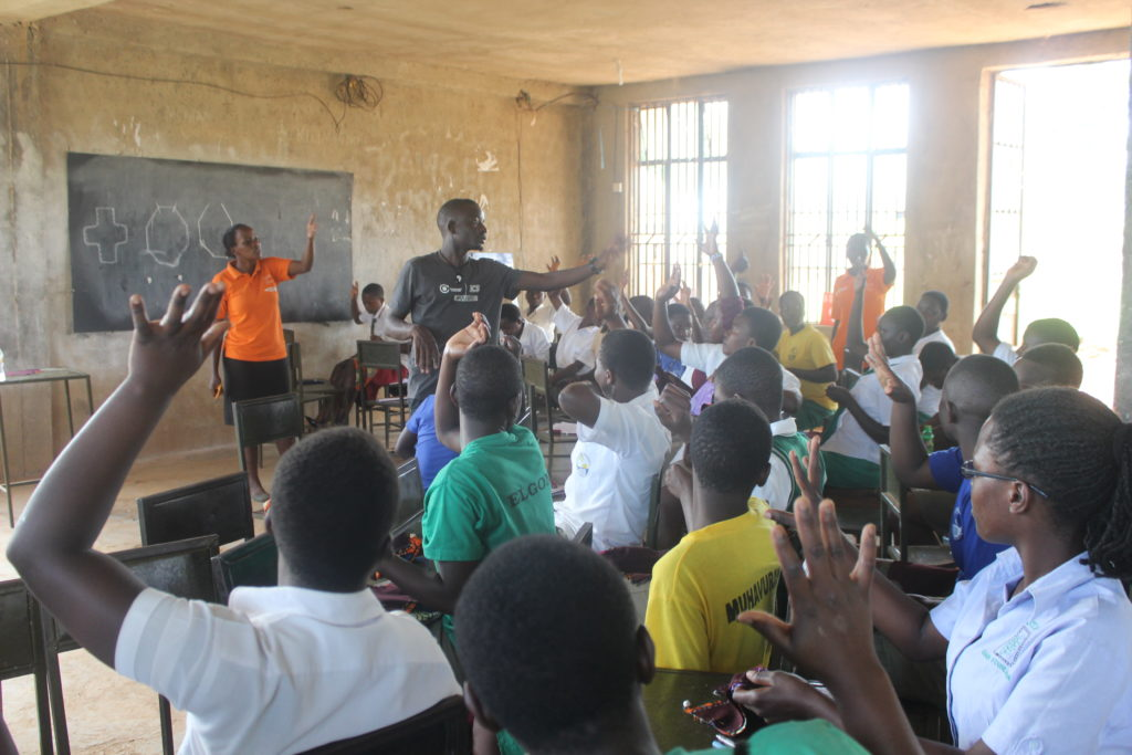 During the Health Impact Day Uganda event